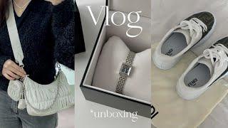 Vlog. 졸업선물 언박싱 | 펜디 포스, 구찌 지프레…