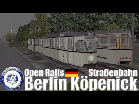 Open Rails (MSTS Successor) Straßenbahn Berlin Köpenick - YouTube