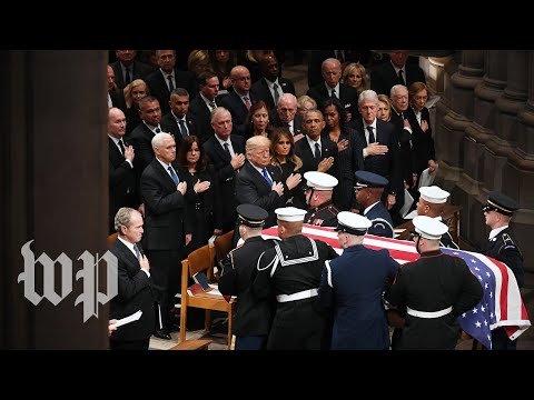 Memorable moments from George H.W. Bushs D.C. funeral