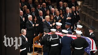 Memorable moments from George H.W. Bush's D.C. funeral