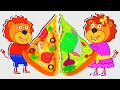 Lion Family Official Channel  Kids Cooking Healthy Pizza  Cartoon For Kids