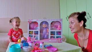 Відео для дітей: розпакування пупса бебі борн - набір для малюка. Dolls gaming