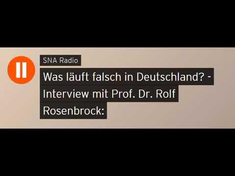 Was läuft falsch in Deutschland? - Interview mit Prof. Dr. Rolf Rosenbrock (Sputniknews)
