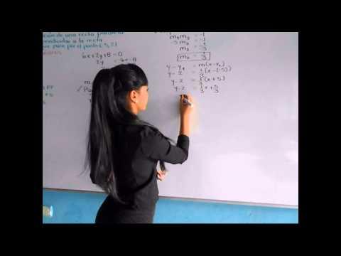 Ecuaciones de la recta: Rectas paralelas y perpendiculares