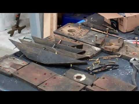 1940 16' Lyman Yacht Tender Gets a New Keelson 1 03 2018 - YouTube