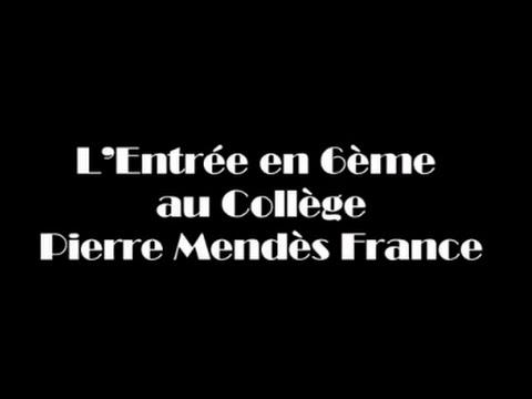 L'entrée en 6ème au Collège Pierre Mendès France