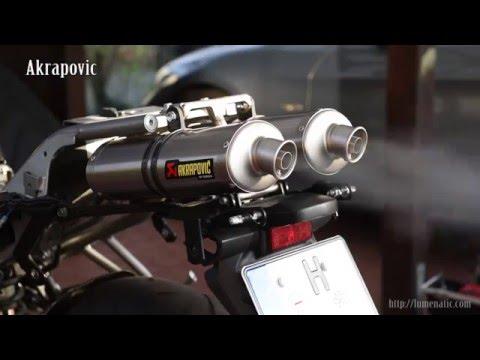 Akrapovic exhaust on a Yamaha FZ6 Fazer - Installation and Sound