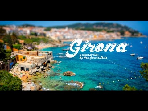 Costa Brava and Girona Pyrenees by Pau Garcia - Miniature, Tilt Shift style