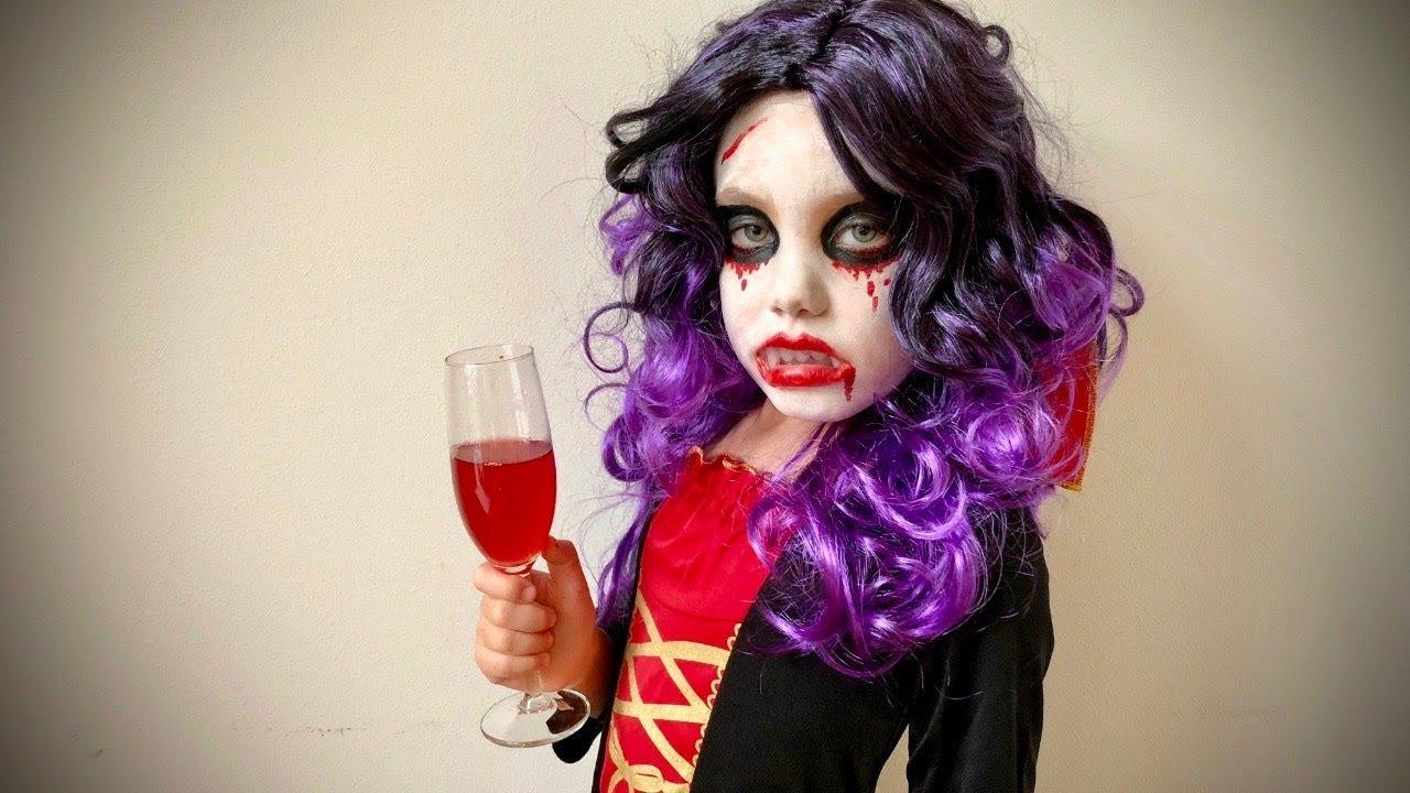 Halloween Sminkek.Halloween Vampire Kids Make Up Tutorial