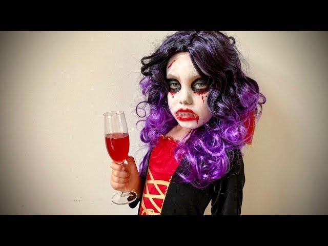 Halloween Vampyr - smink tutorial barn