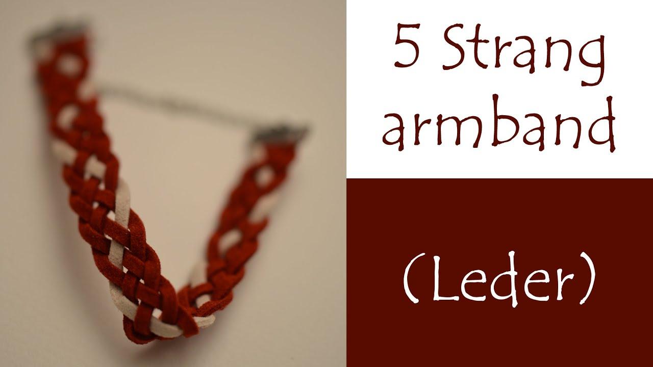 Armband flechten mit 8 bandern