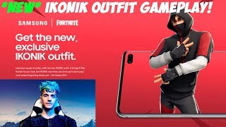 Ninja shows off *NEW* IKONIK Skin and Scenario Emote for Fortnite