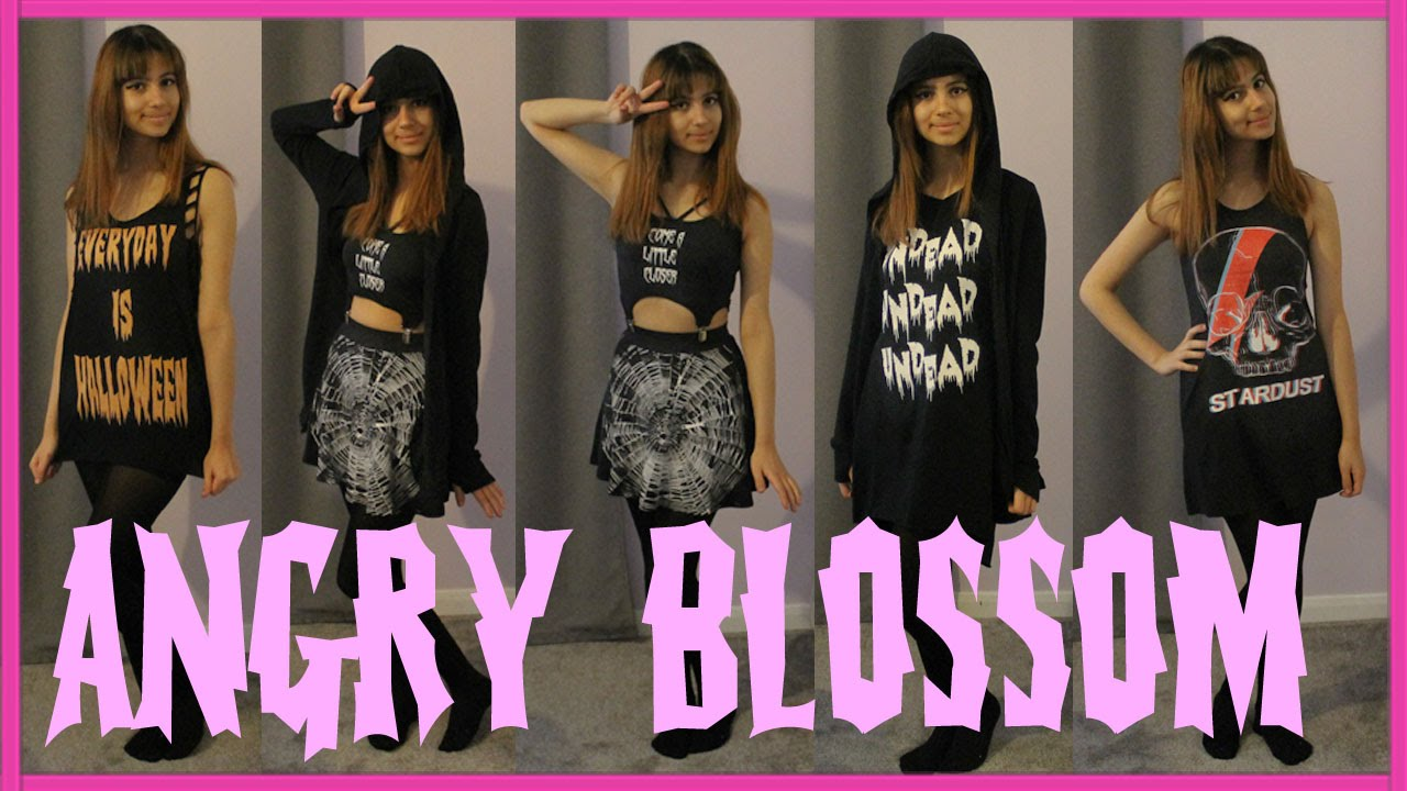 ✖Alternative Clothing Review, Haul and Try-On! Angry Blossom Clothing✖