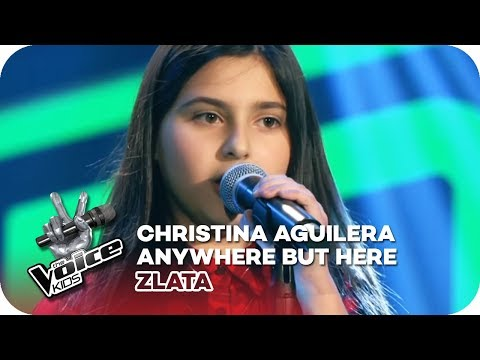 Christina Aguilera - Anywhere But Here Zlata  Blind Auditions  The Voice Kids 2018  SAT1