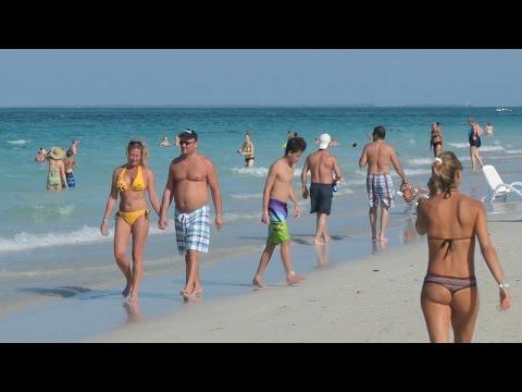 Beach Time Lapse Iberostar Laguna Azul Beach Resort Varadero Beach Cuba