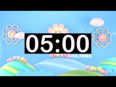 5 Minute Countdown Timer with Music For Kids! - YouTube