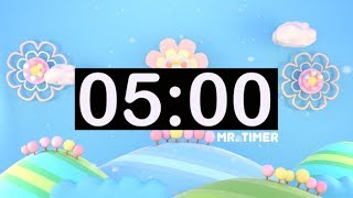 5 Minute Countdown Timer with Music For Kids!