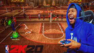 I took my stretch big to the 1v1 court and you wont believe happened.....BEST BUILD NBA 2K20!
