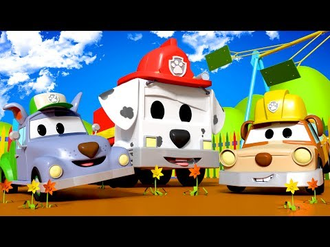 Tom The Tow Truck's Paint Shop: the PAW PATROL : Jeremy and Matt as Rubble and Rocky