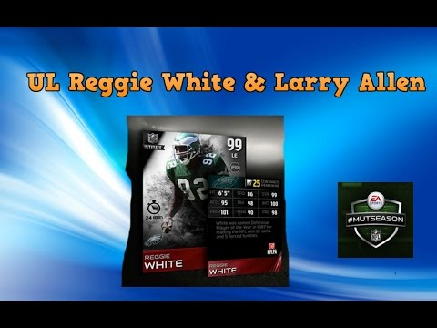 Ultimate Legend Reggie White & Larry Allen - 7 Pro Pack Bundle - Gold Ticket Players