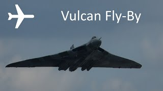 Vulcan B2 Bomber XH558 Fly-By at Manchester Airport 27th June 2015