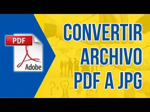 Como Convertir PDF A JPG Sin Programas