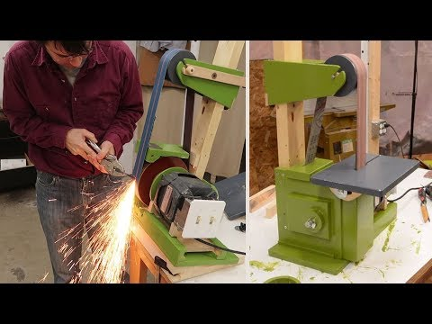Belt Grinder Build 2/2: Motor, Table, Platen, And Housing