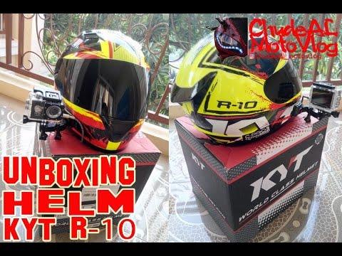 #11 Unboxing Helm KYT R-10 | ChudeAL MotoVlog.