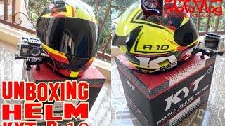 #11 Unboxing Helm KYT R-10   ChudeAL MotoVlog.