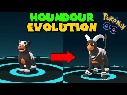 Evolving Houndour To Houndoom Pokemon Go Gen 2 Evolution Youtube