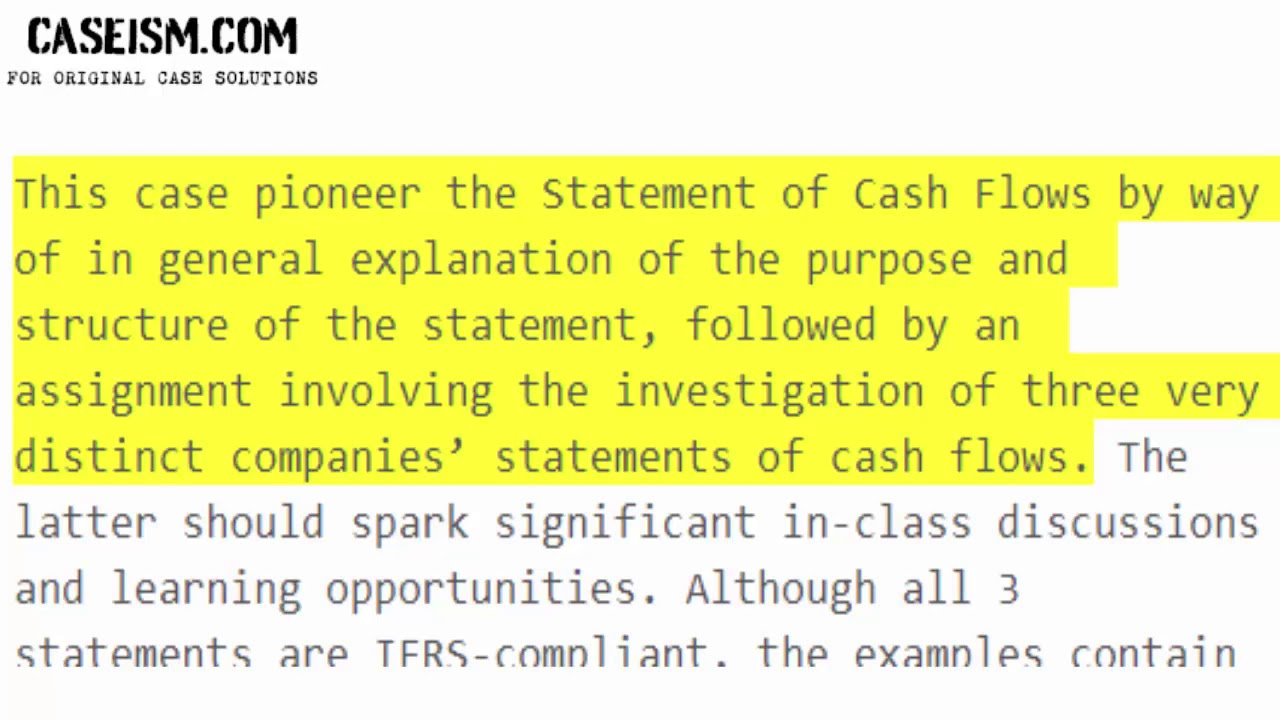 statements of cash flows three examples solution