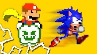 SUPER MARIO VS SONIC The Hedgehog SMASH BROS Official GAME Animation