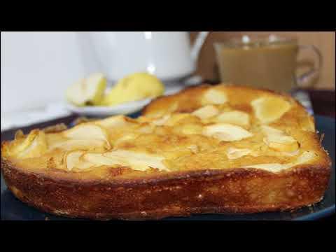 gâteau-pommes-poires-avec-2-œufs-et-des-ingrédients-en-toute-petite-quantité