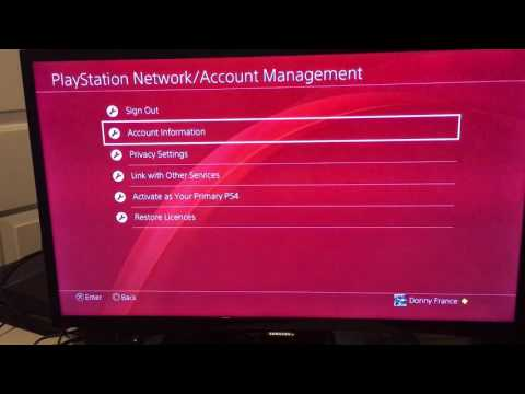 How to remove a credit card on PS4.