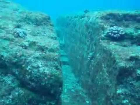 Yonaguni Monument Manmade ancient Rock underwater YouTube