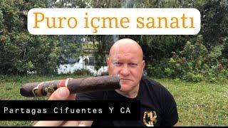 Puro içme sanatı Partagas Cifuentes Y CA