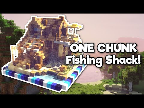 Minecraft: Beach Fishing Shack In ONE CHUNK! [Tutorial]