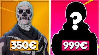 ❌DARUM it costs 999€❌Expensive & Best ALL Skins TOP10 || Fortnite Battle Royale