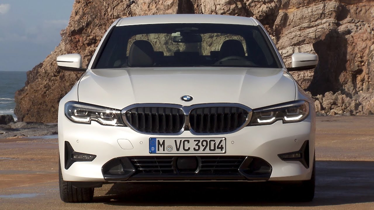 2019 Bmw 320d Sport Line Mineral White Metallic Driving Interior Exterior