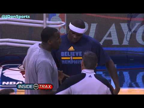 Kendrick Perkins And Zach Randolph Ask Referee To Let Them Be Physical Before Game 3, 2014