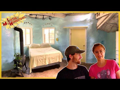 Earthbag Bedroom Earthen Cob Floor Restore, Pallet Buffet Table & Light Install | Weekly Peek Ep249