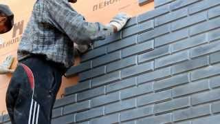Быстрый монтаж фасадного камня(В данном ролике продемонстрирован быстрый способ монтажа фасадных панелей на шурупы., 2013-11-18T04:35:20.000Z)