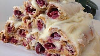 """Торт Монастырская Изба (Избушка)-Легко и Вкусно (Cake with Cherry, """"Izba"""" English Subtitles)"""