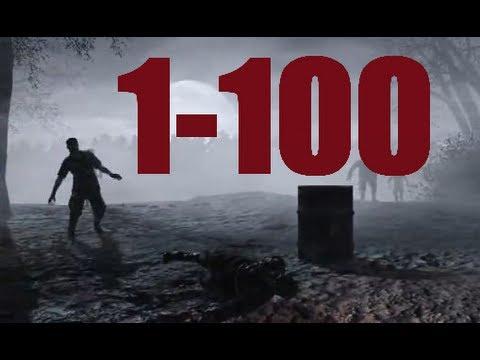 Nacht Der Untoten Rounds 1-100 Full Gameplay - World at War Zombies