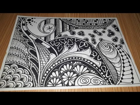 Download Tangle art inspired for you lonely