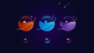 Wie schaffen Planeten in Adobe illustrator | Adobe illustrator tutorial