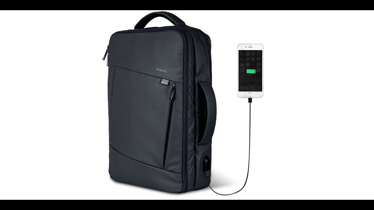1df089733a ROMOSS 15.6 Inch Laptop Backpack with USB Charging Port Review - YouTube