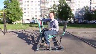 Пробую спортивный тренажёр(В Архангельске устанавливают всё больше спортивных площадок. Решил попробовать один из тренажёров, он..., 2016-04-01T20:09:52.000Z)