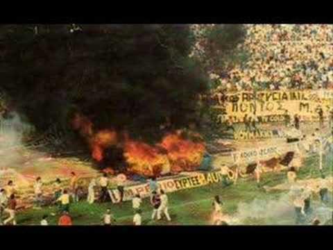 GREEK HOOLIGANS BURN STADIUMS !!!