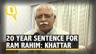 Gurmeet ram rahim sentenced to 20 years in jail. not 10: ml khattar